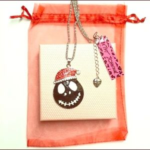 Smiley Santa Christmas necklace 28 Betsey Johnson